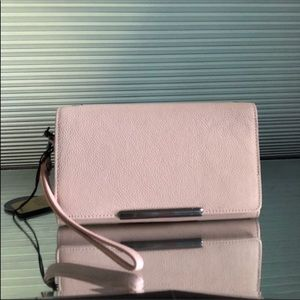 NWT Rachel Roy Convertible Leather Crossbody Bag